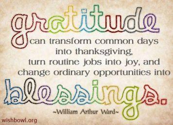 gratitude blessings